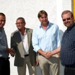 Från vänster: Arne Lernhag ordförande ÖRAB, Bo Michelson otdförande ÖMC, Janne Johansson vd ÖRAB och ÖMC och Leif Larsson vice ordförande ÖRAB.
